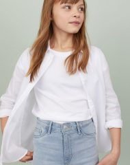 20Y3-048 H&M Cotton Poplin Shirt - 12-14 tuổi