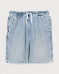 20U3-057 H&M Pull-on Denim Shorts - 10-12 tuổi