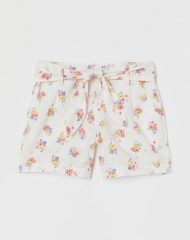 20U3-017 H&M Tie-belt Cotton Shorts - 4-6 tuổi