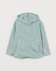 20G2-073 H&M Hooded Knit Fleece Jacket - 6-8 tuổi