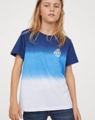 20S2-086 H&M T-shirt with Printed Design - 12-14 tuổi