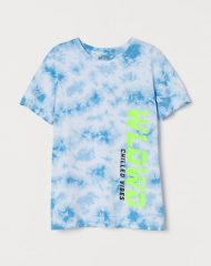 20S2-087 H&M T-shirt with Printed Design - 12-14 tuổi