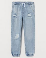 20N1-123 H&M Comfort Stretch Denim Joggers - 12-14 tuổi