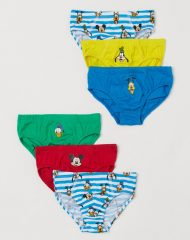 20D1-076 H&M 6-pack printed boys' briefs - 6-8 tuổi
