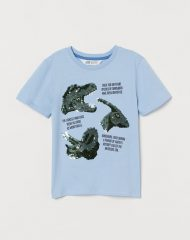 21J2-038 H&M Sequined T-shirt - 8-10 tuổi