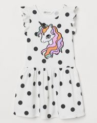 21M2-037 H&M Motif-detail dress - 8-10 tuổi
