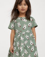 21M2-036 H&M Printed cotton dress - 8-10 tuổi