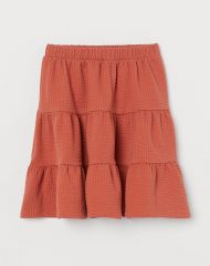 21A1-012 H&M Waffled Skirt - 6-8 tuổi
